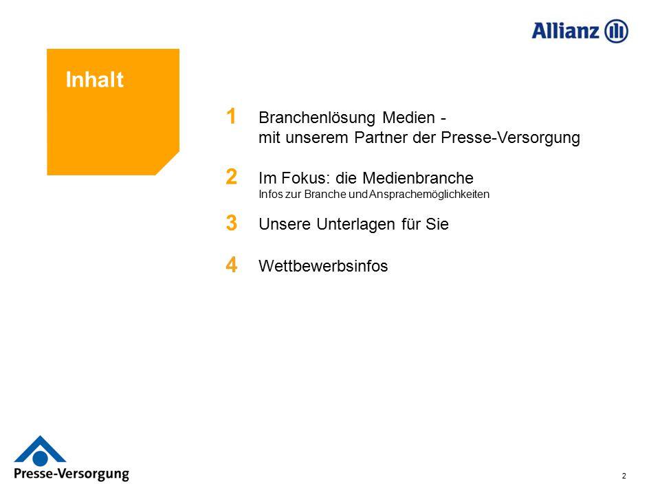 Inhalt 1. Branchenlösung Medien - mit unserem Partner der Presse-Versorgung. 2.