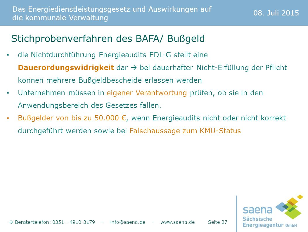 Stichprobenverfahren des BAFA/ Bußgeld