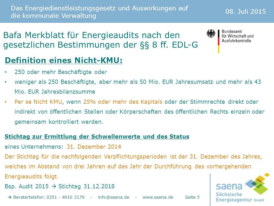Bafa Merkblatt für Energieaudits nach den gesetzlichen Bestimmungen der §§ 8 ff. EDL-G