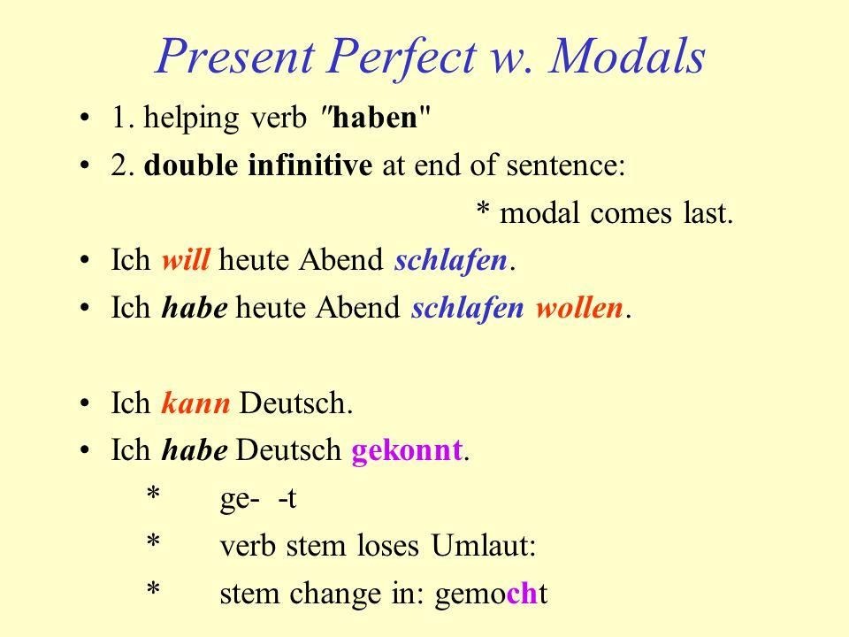 Present Perfect w. Modals