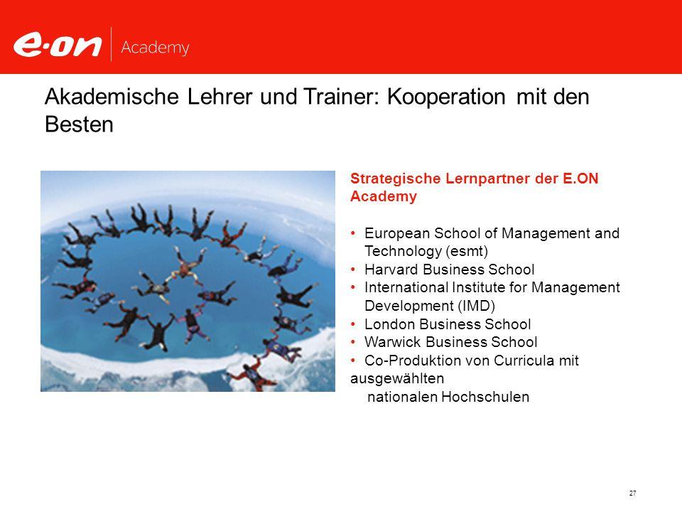 Akademische Lehrer und Trainer: Kooperation mit den Besten