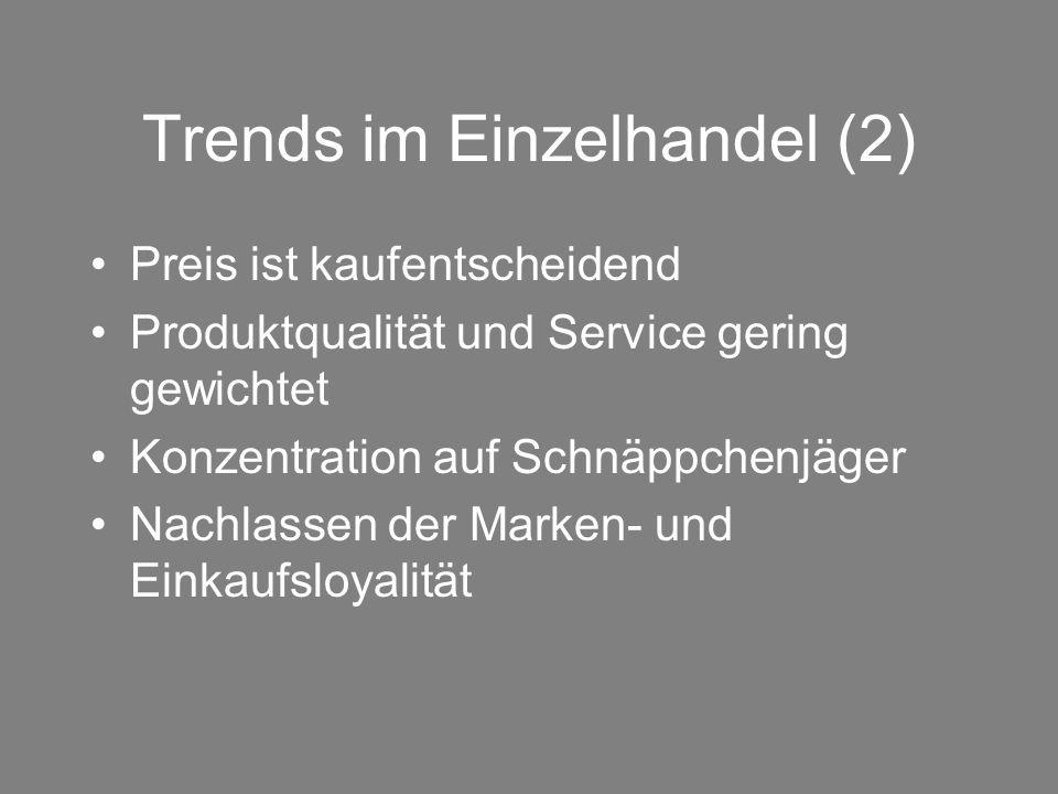 Trends im Einzelhandel (2)
