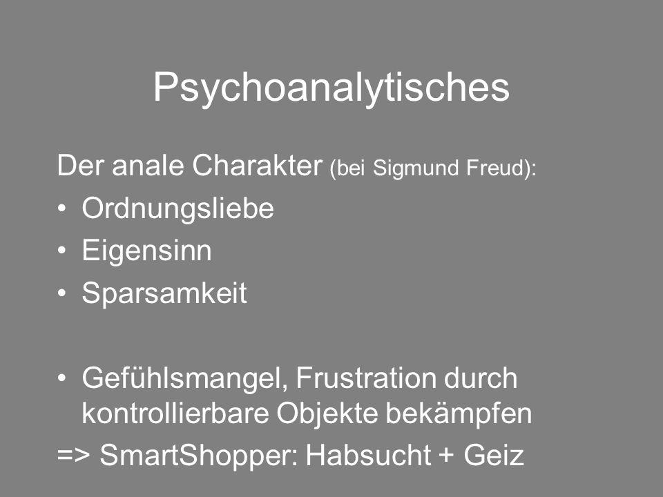 Psychoanalytisches Der anale Charakter (bei Sigmund Freud):