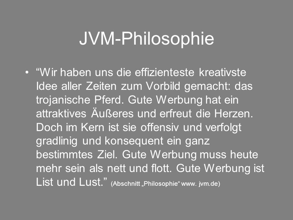 JVM-Philosophie