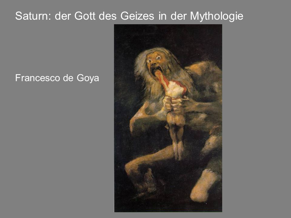 Saturn: der Gott des Geizes in der Mythologie