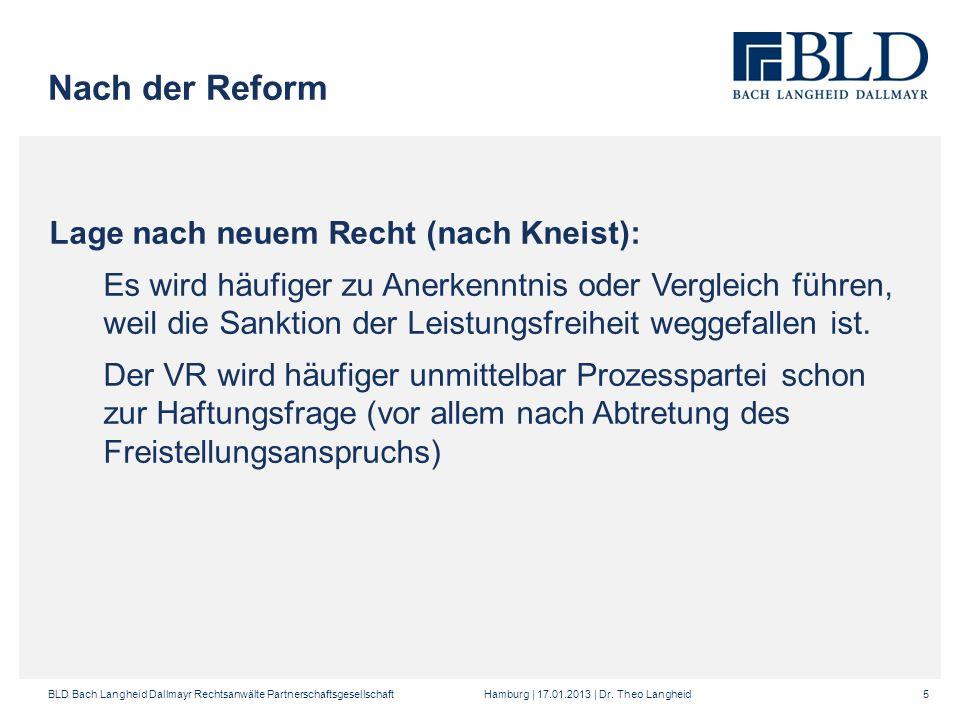 Nach der Reform