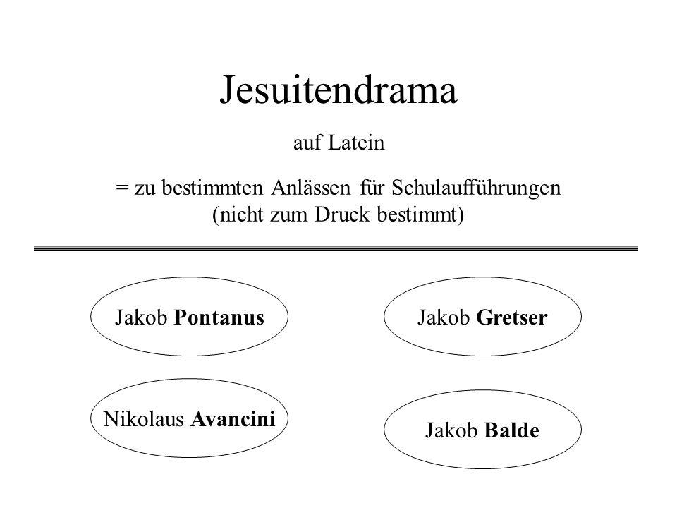 Jesuitendrama auf Latein