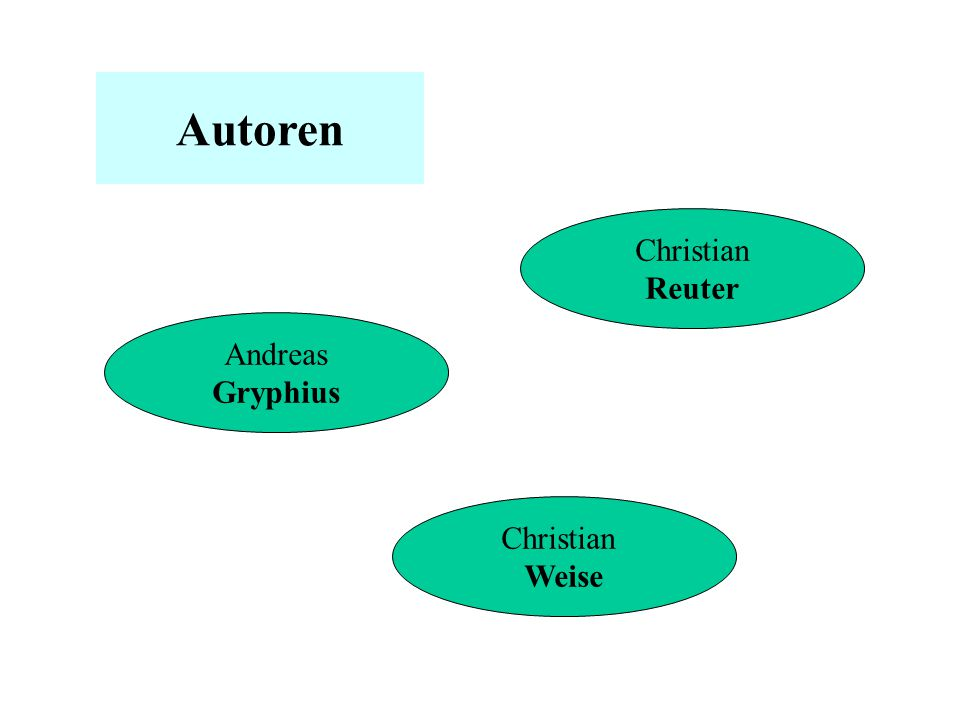 Autoren Christian Reuter Andreas Gryphius Christian Weise