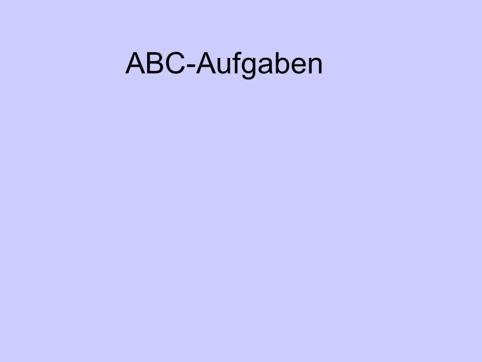 ABC-Aufgaben
