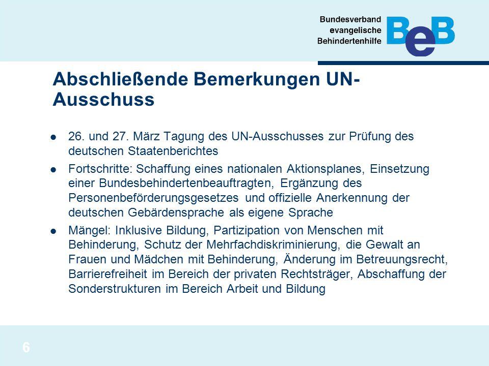 Abschließende Bemerkungen UN-Ausschuss