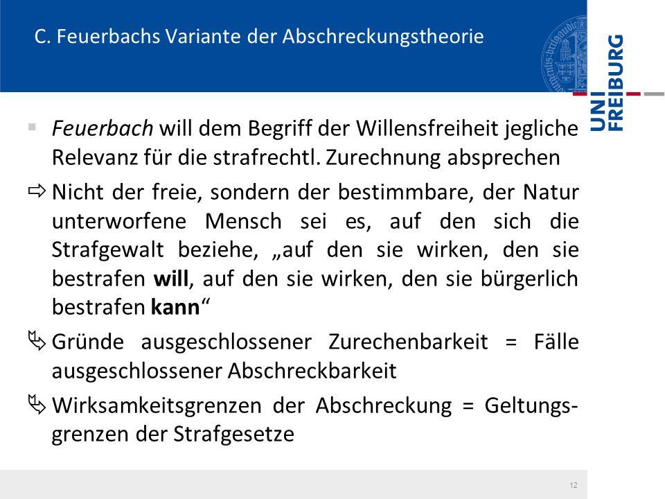 C. Feuerbachs Variante der Abschreckungstheorie
