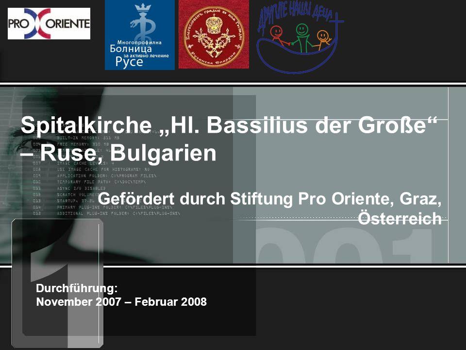 "Spitalkirche ""Hl. Bassilius der Große – Ruse, Bulgarien"