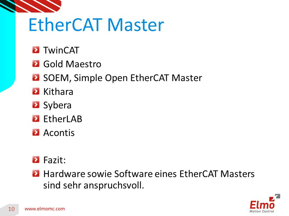 EtherCAT Master TwinCAT Gold Maestro SOEM, Simple Open EtherCAT Master