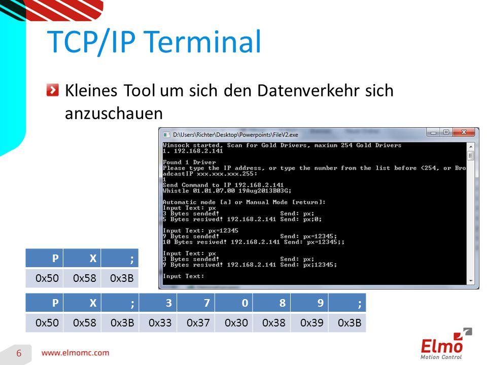 TCP/IP Terminal Kleines Tool um sich den Datenverkehr sich anzuschauen