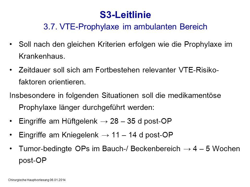 3.7. VTE-Prophylaxe im ambulanten Bereich