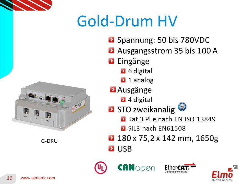 Gold-Drum HV Spannung: 50 bis 780VDC Ausgangsstrom 35 bis 100 A