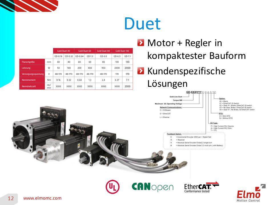 Duet Motor + Regler in kompaktester Bauform Kundenspezifische Lösungen