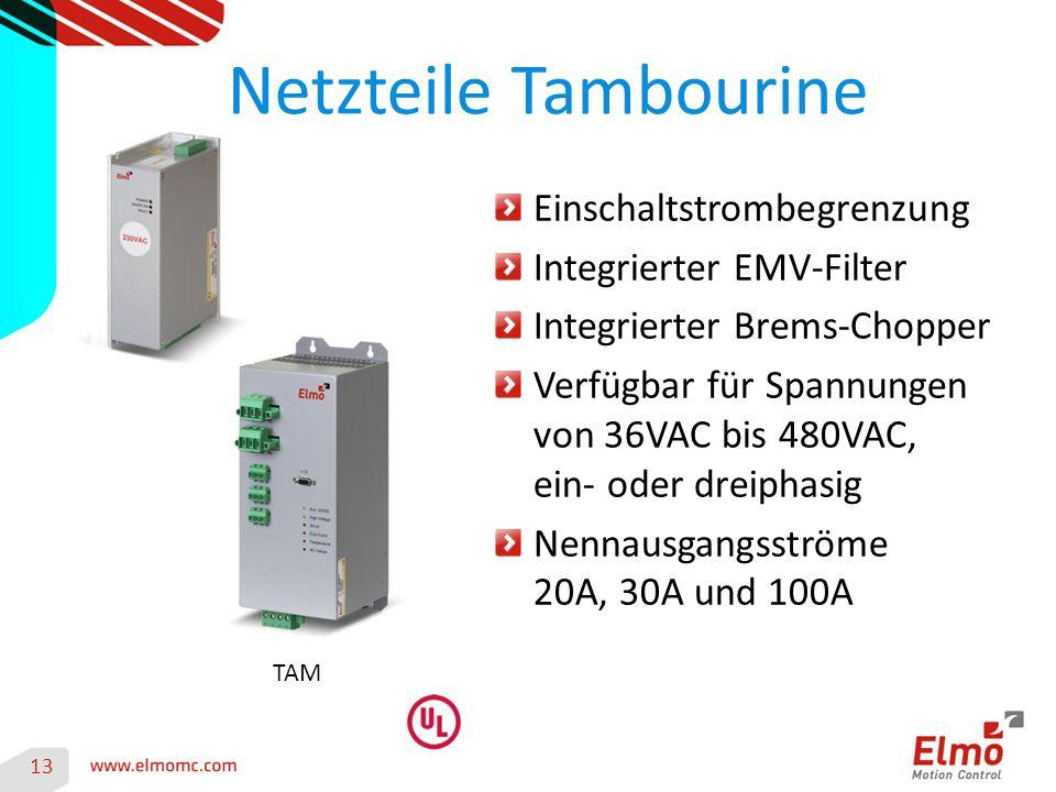 Netzteile Tambourine Einschaltstrombegrenzung Integrierter EMV-Filter