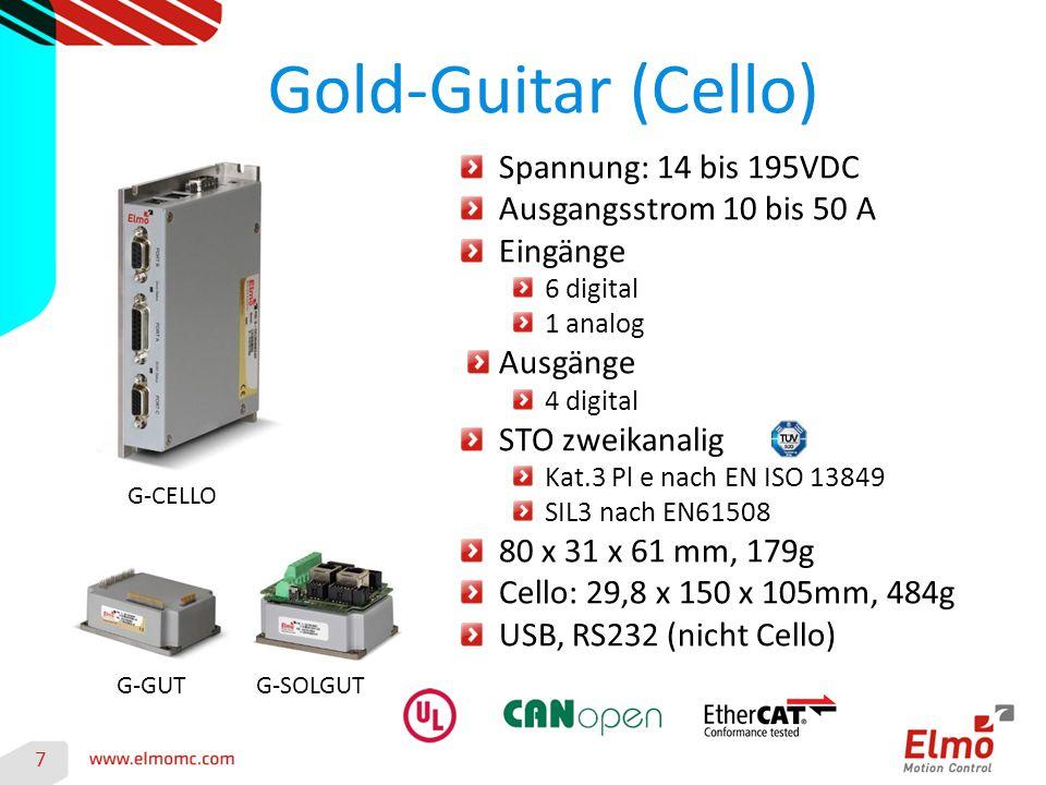 Gold-Guitar (Cello) Spannung: 14 bis 195VDC Ausgangsstrom 10 bis 50 A