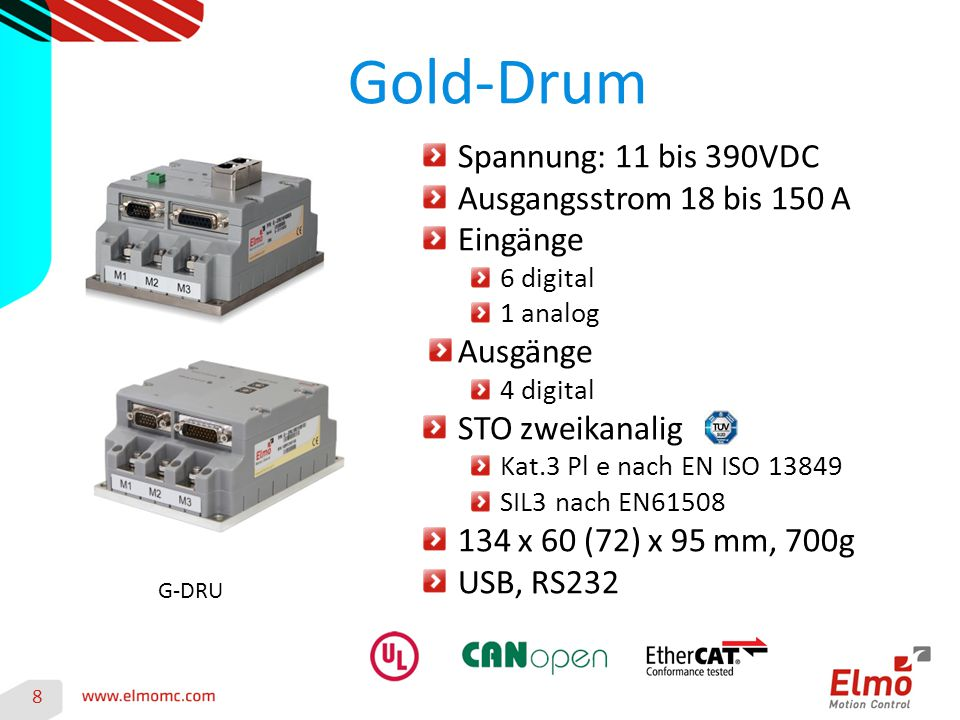 Gold-Drum Spannung: 11 bis 390VDC Ausgangsstrom 18 bis 150 A Eingänge