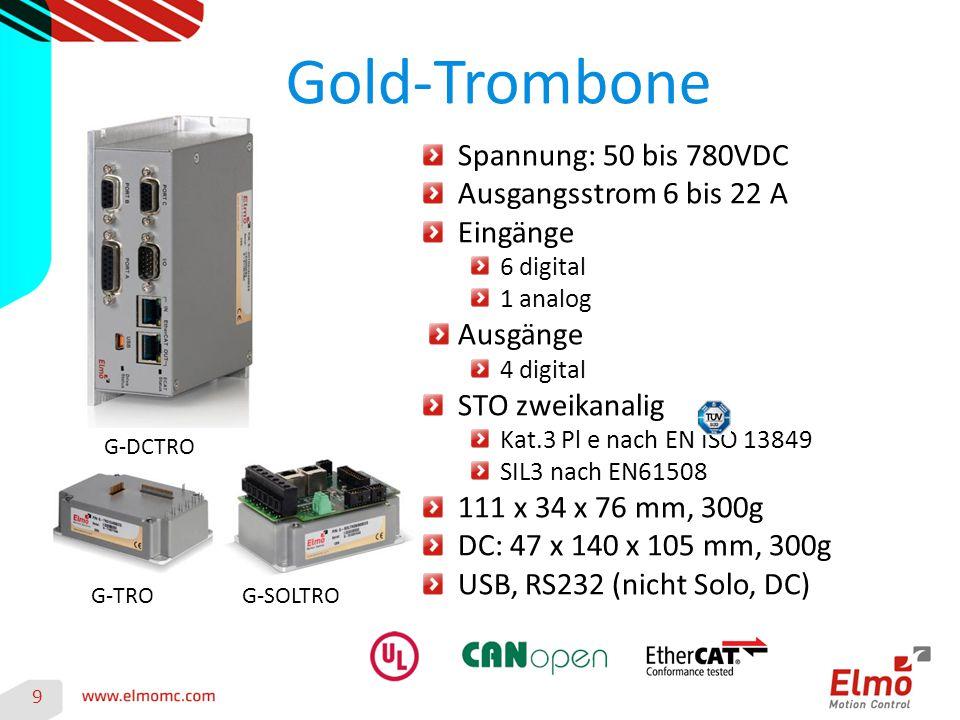 Gold-Trombone Spannung: 50 bis 780VDC Ausgangsstrom 6 bis 22 A