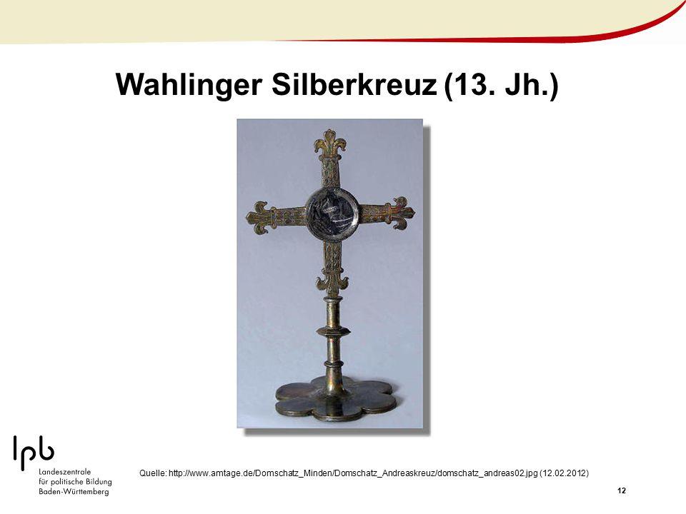 Wahlinger Silberkreuz (13. Jh.)