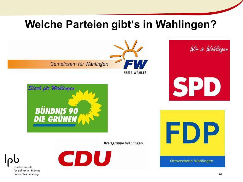 Welche Parteien gibt's in Wahlingen