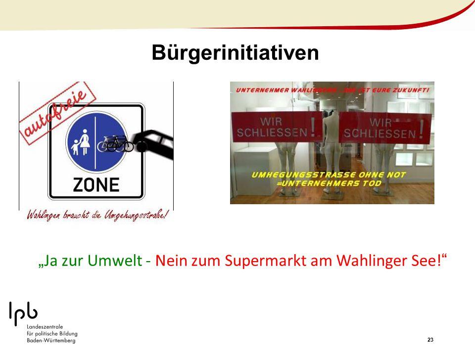 """""""Ja zur Umwelt - Nein zum Supermarkt am Wahlinger See!"""