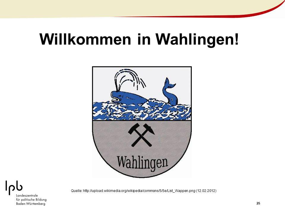 Willkommen in Wahlingen!