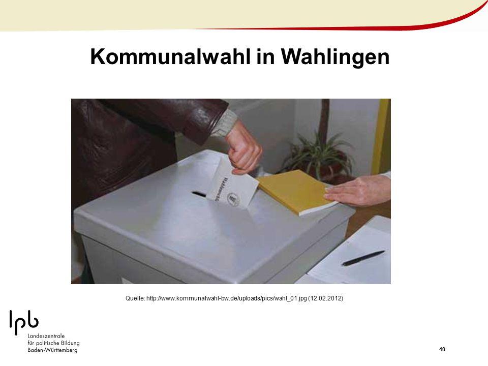Kommunalwahl in Wahlingen