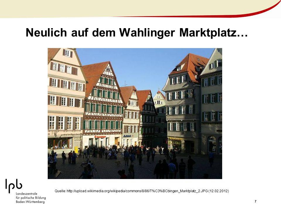 Neulich auf dem Wahlinger Marktplatz…
