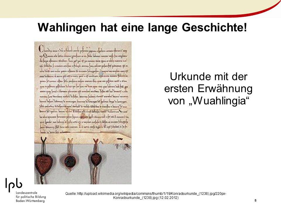 Wahlingen hat eine lange Geschichte!