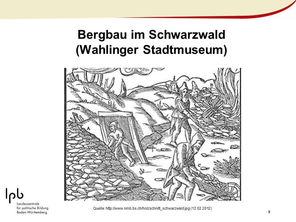 Bergbau im Schwarzwald (Wahlinger Stadtmuseum)