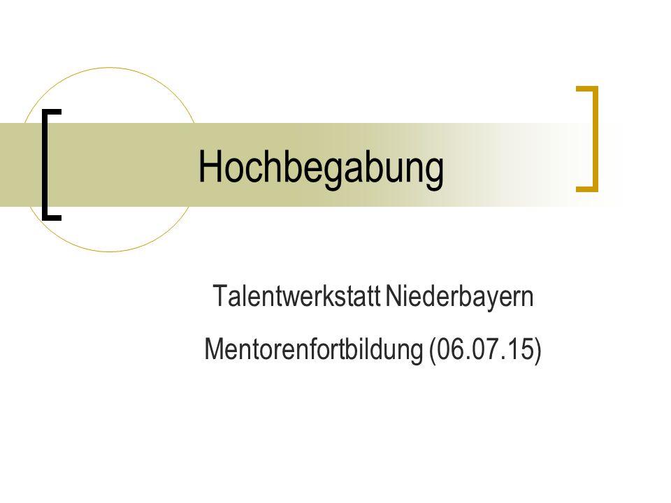 Talentwerkstatt Niederbayern Mentorenfortbildung (06.07.15)