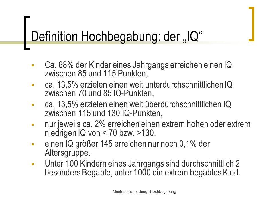 """Definition Hochbegabung: der """"IQ"""