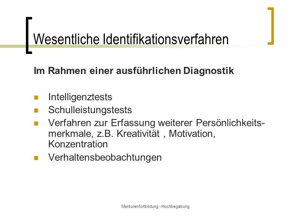 Wesentliche Identifikationsverfahren