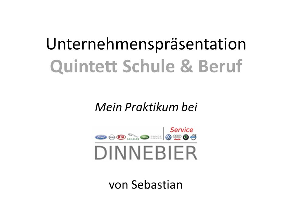Unternehmenspräsentation Quintett Schule & Beruf