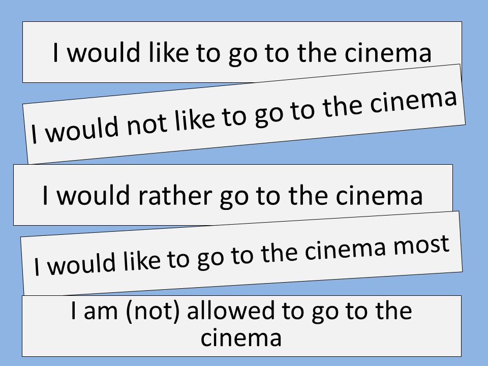 I would like to go to the cinema