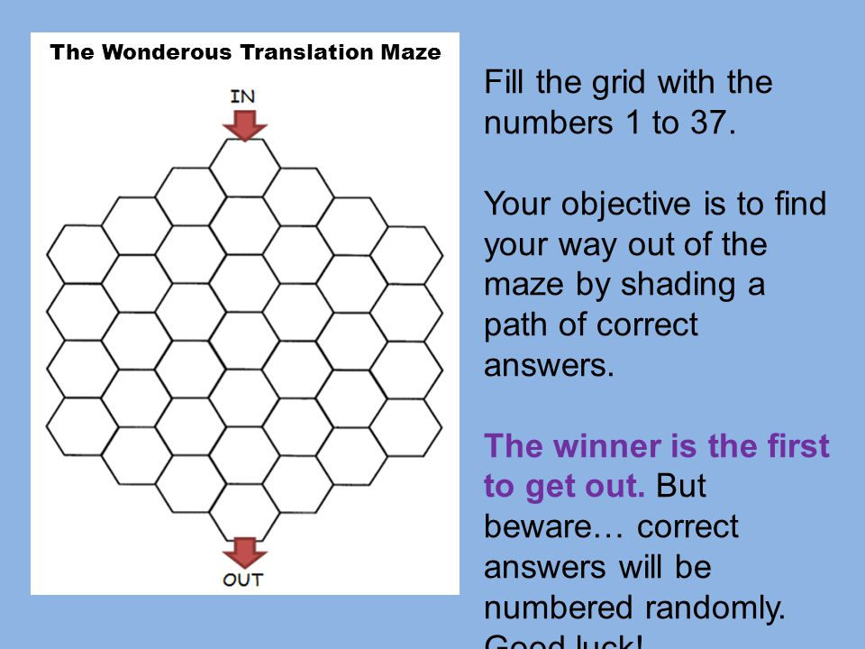 The Wonderous Translation Maze