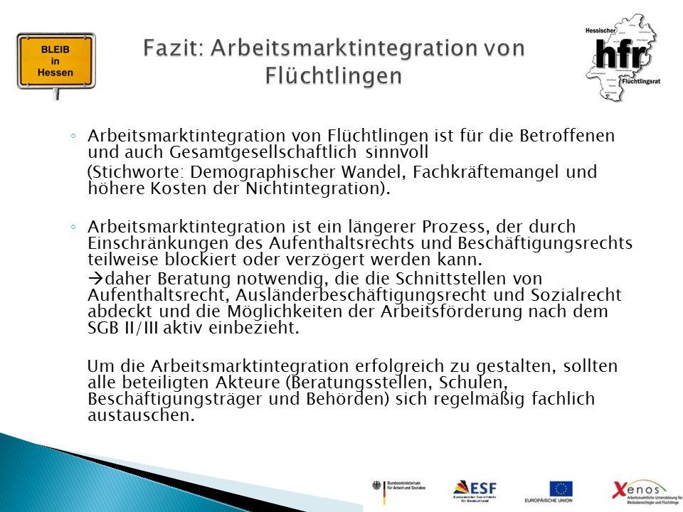 Fazit: Arbeitsmarktintegration von Flüchtlingen