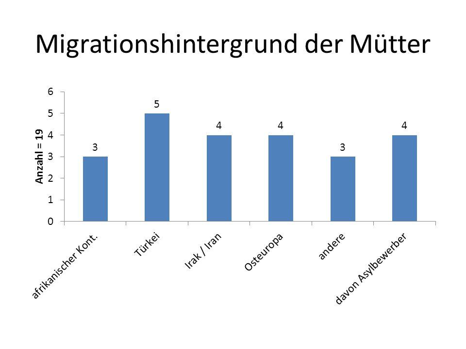 Migrationshintergrund der Mütter
