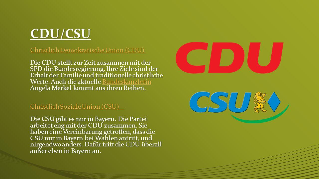 CDU/CSU Christlich Demokratische Union (CDU)