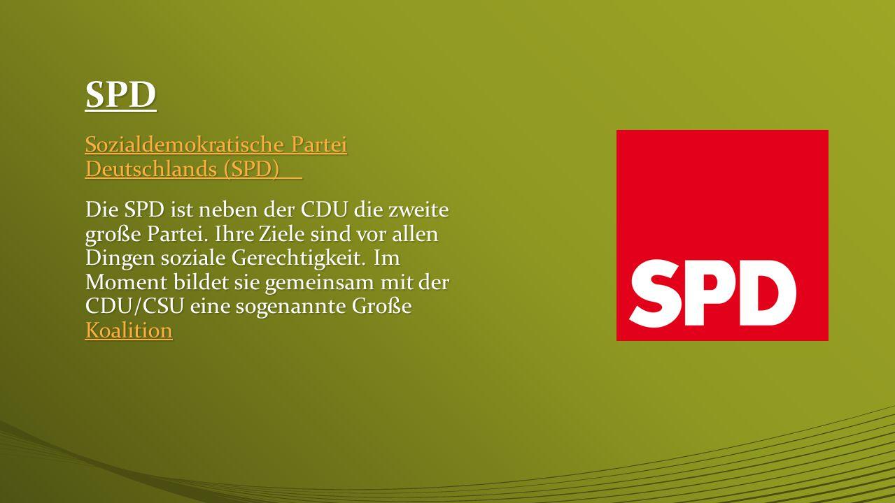 SPD Sozialdemokratische Partei Deutschlands (SPD)