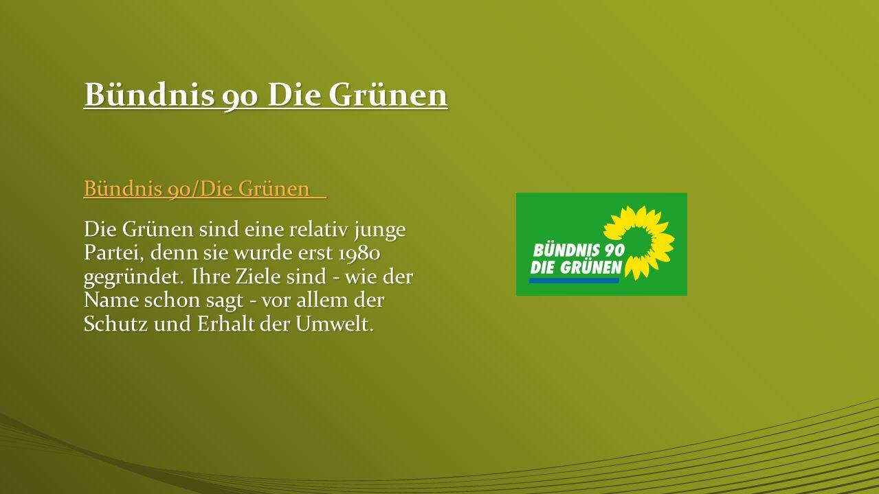 Bündnis 90 Die Grünen Bündnis 90/Die Grünen