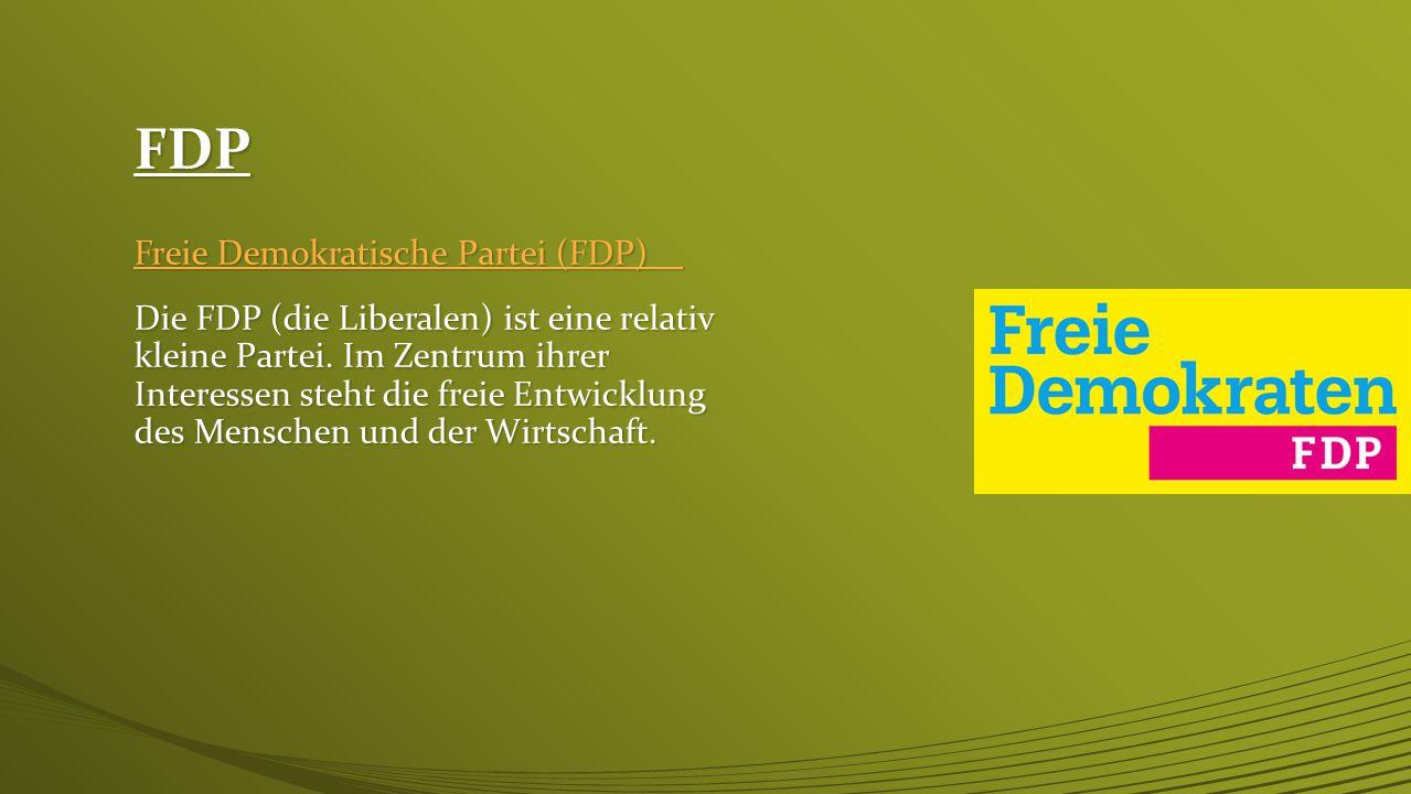 FDP Freie Demokratische Partei (FDP)