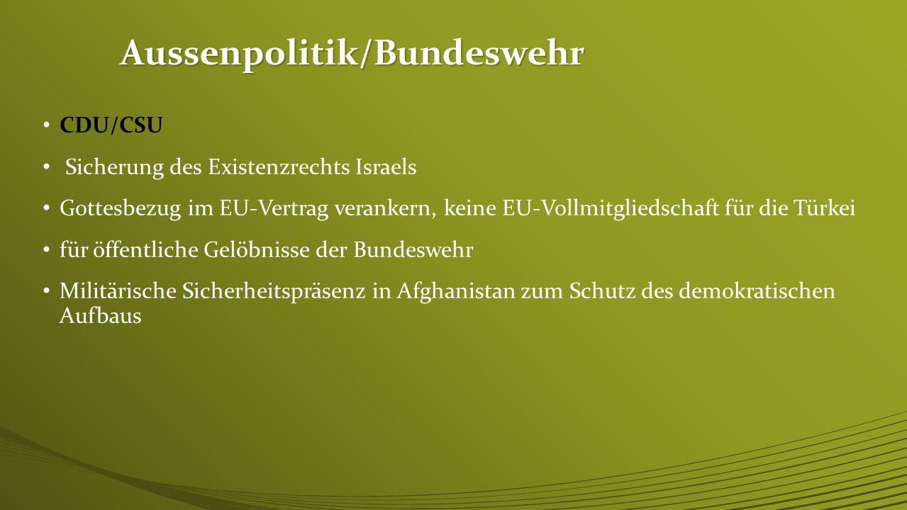Aussenpolitik/Bundeswehr