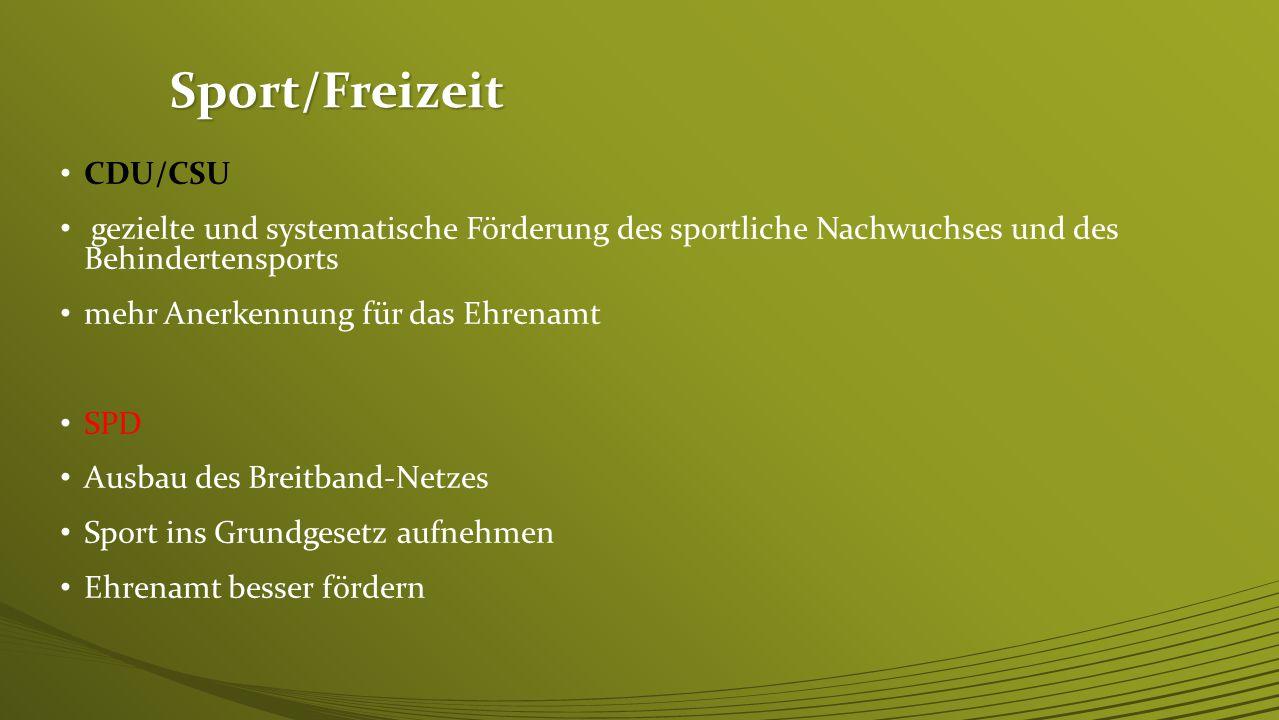 Sport/Freizeit CDU/CSU