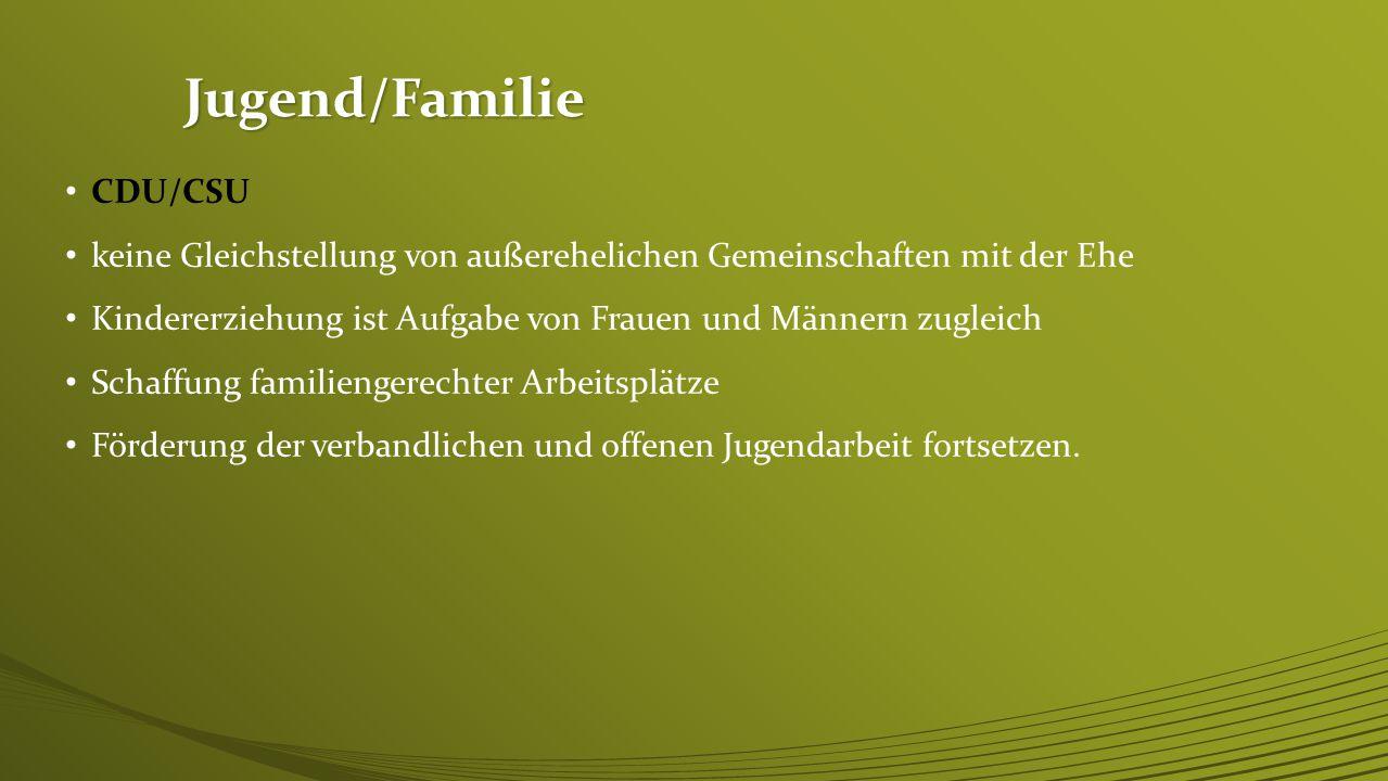 Jugend/Familie CDU/CSU