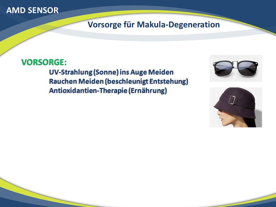 Vorsorge für Makula-Degeneration