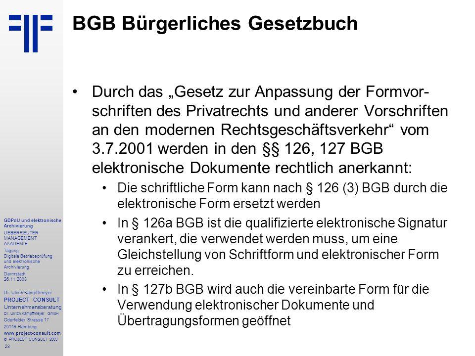 BGB Bürgerliches Gesetzbuch